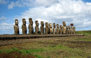 Ahu Tongariki Moai Statues – The monolithic human figures on Easter Island