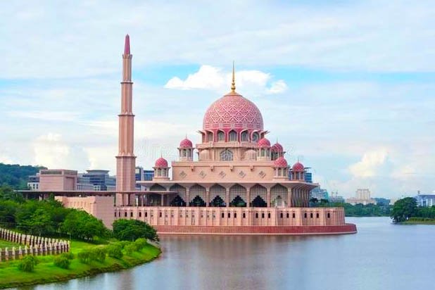 The Putra Mosque in Putrajaya