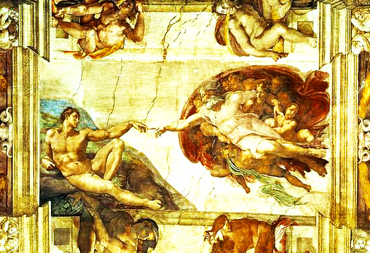 The Creation of Adam in the Vatican City