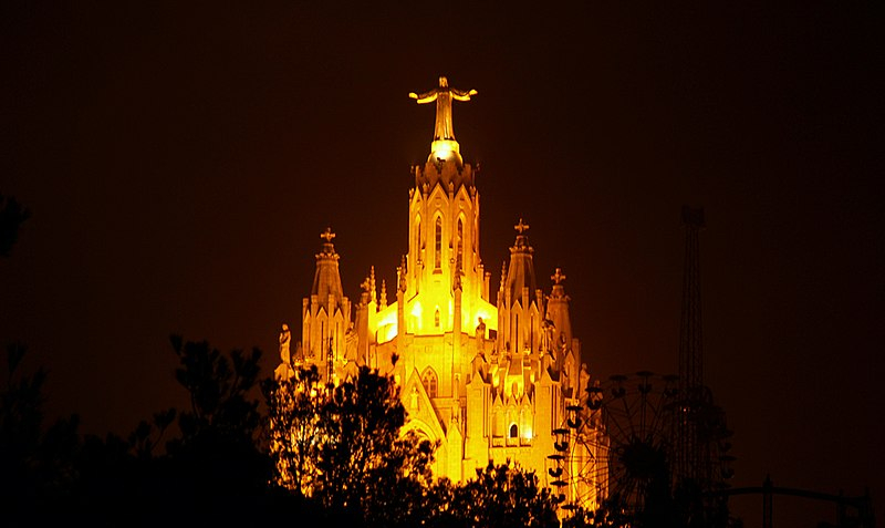 The Temple Expiatori del Sagrat Cor in Barcelona