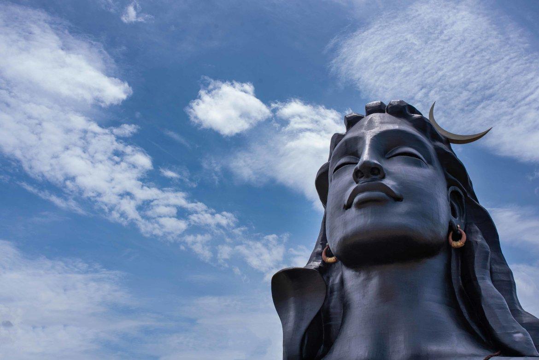 The Adiyogi Shiva statue in Coimbatore
