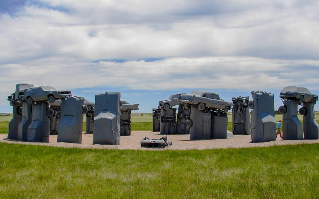 Carhenge – The car- Stonehenge in the city of Alliance