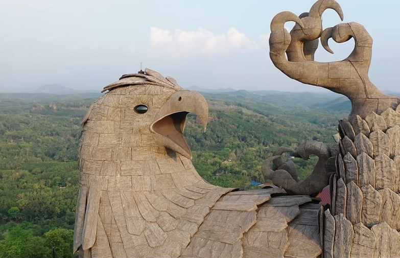 Jatayu Earth's Center – The world's largest bird sculpture in Chadayamangalam