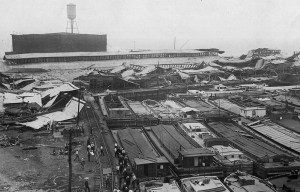 Black Tom explosion – One of the world's largest artificial non-nuclear explosions in Jersey City