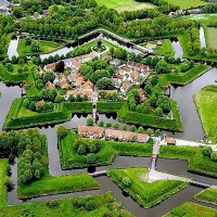 Fort Bourtange - The star fort in the village of Bourtange