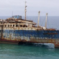 SS America - The American Star rests in Fuerteventura