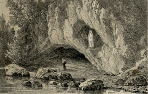 The grotto at Massabielle – The vision of Virgin Mary appears Bernadette Soubirous to in Lourdes