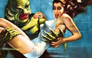 Creature from the Black Lagoon – Gill-man and the girl under the water in Crawfordville