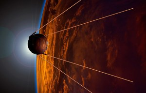 Sputnik 1 – The full-scale replica of the world's first satellite is being exhibited in Sydney