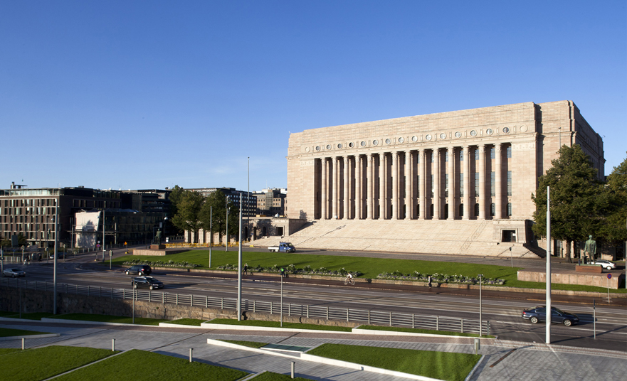 Eduskuntatalo – The parliament house of Finland in Helsinki