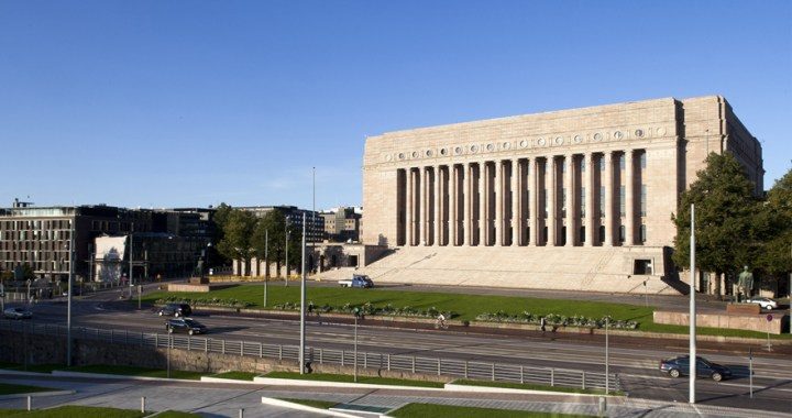 Eduskuntatalo – The parliament house of Finland in Helsinki