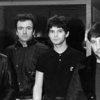 "The Stranglers - The men in black shoot the ""Golden Brown"" video clip in London"