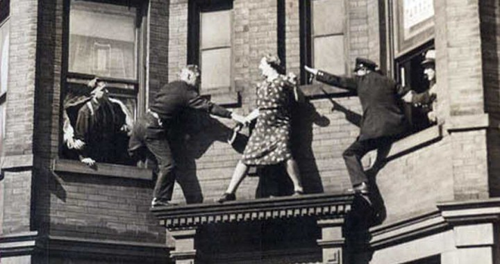Mrs. Edna Egbert – A lady fights with police in Brooklyn