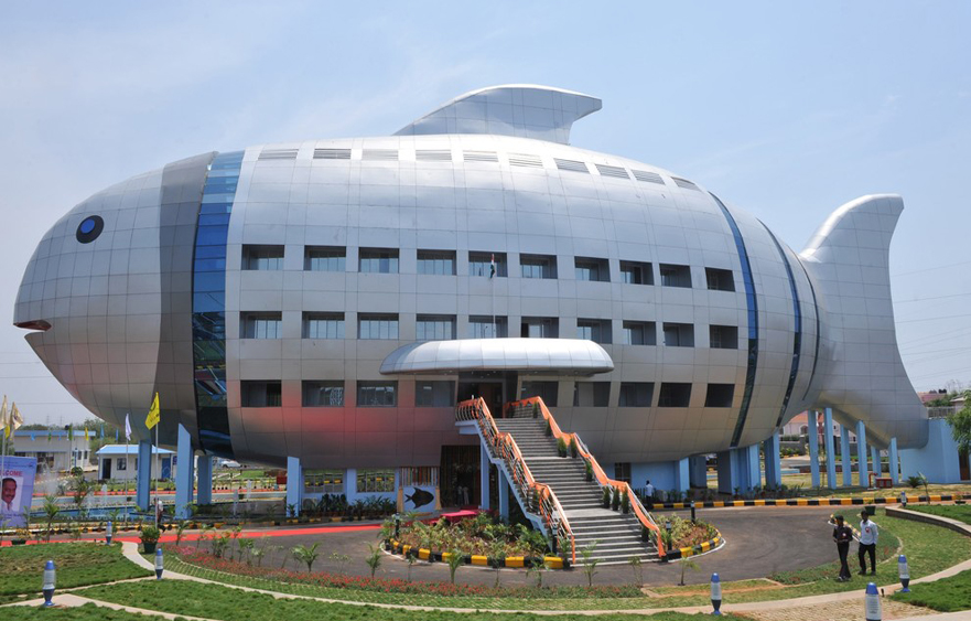 National Fisheries Development Board building – The fish-shaped building in Hyderabad