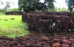 Talietumu fort – The ruins of the fortress in Wallis and Futuna