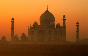 Taj Mahal – The great ivory-white marble mausoleum in Agra