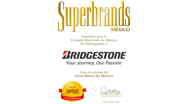 Bridgestone es reconocida dentro de las Superbrands 2013