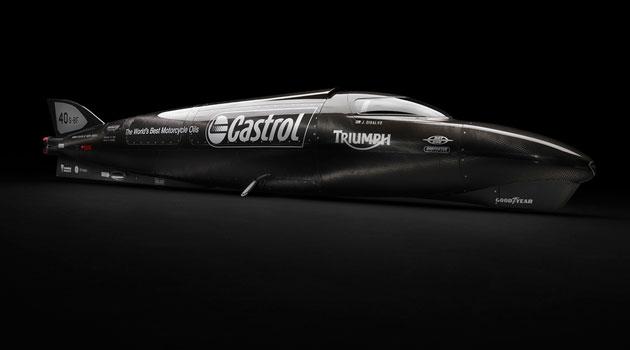 Triumph Rocket en busca de los 643 km/hr en Bonneville