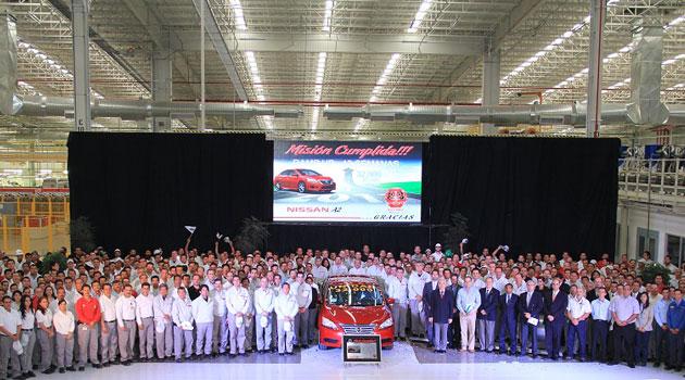Nissan Aguascalientes alcanza producción de 32,770 unidades