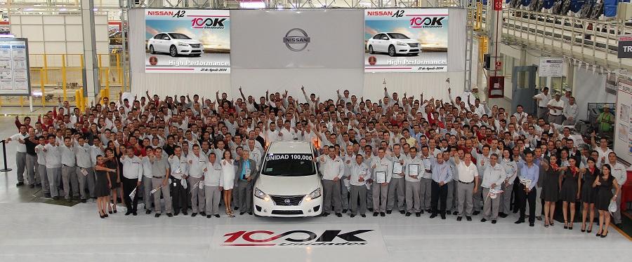 Nissan Aguascalientes planta A2 alcanza la producción de sus primeras 100 mil unidades