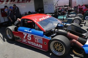 Legendary racer Steve Millen and his No. 75 Nissan 300ZX take to the track in Monterey