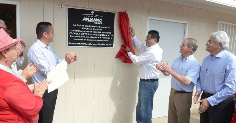 Nissan y Fundación ANDANAC inauguran nueva escuela en Durango