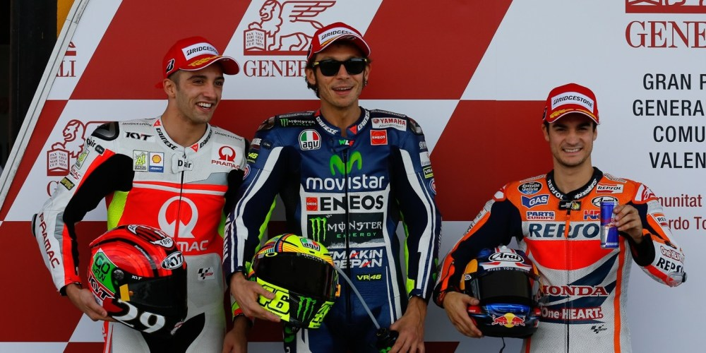 Rossi se lleva la pole para la carrera final del año en Valencia