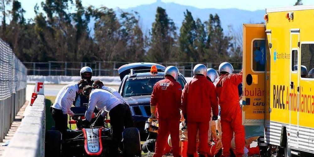 El viento el culpable del accidente de Alonso