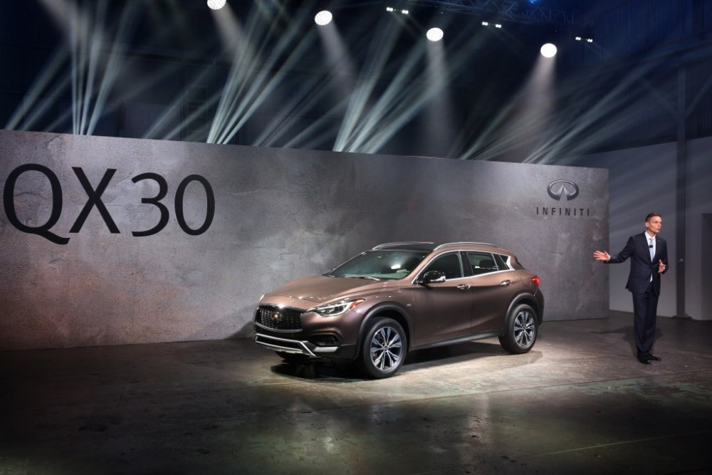 Infiniti unveils the QX30 in LA