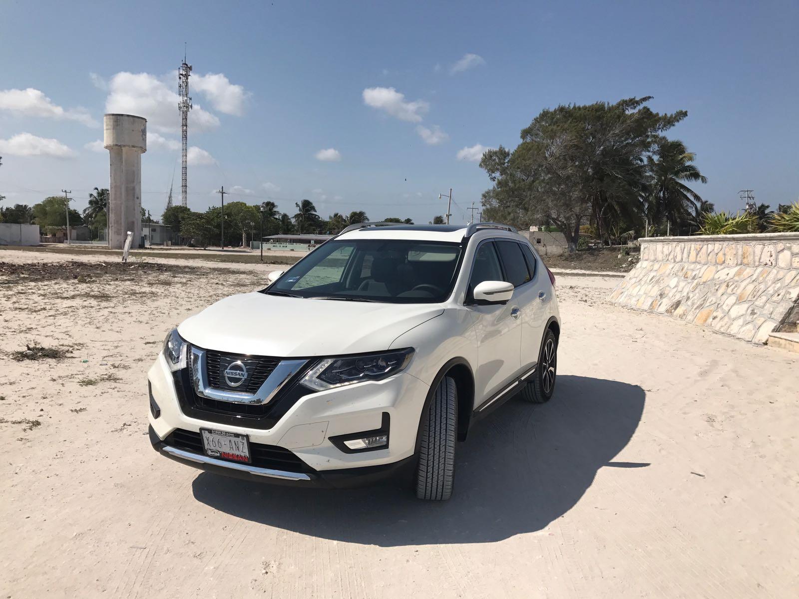 playa_Nissan_xtrail_2018_las_salinitas_las_coloradas_Merida_coche