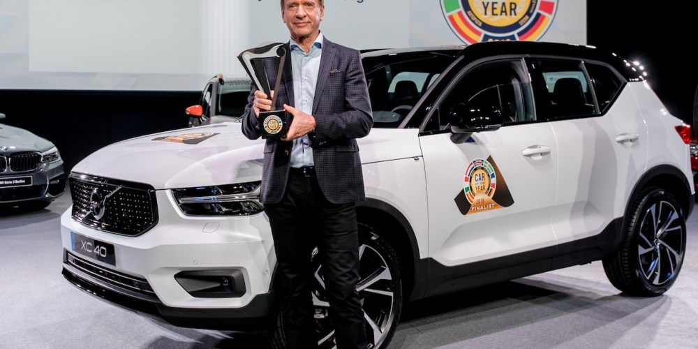 Volvo Car Group President & CEO Håkan Samuelsson at the European Car of the Year award ceremony