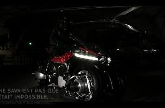 Preparan Lazareth LMV 496, la motocicleta voladora