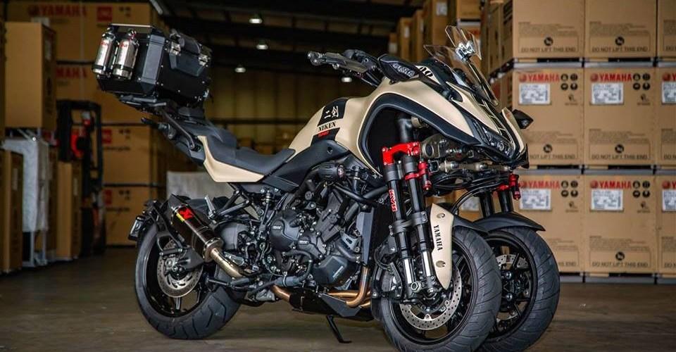 Yamaha Niken Turbo, tres ruedas y 148 HP
