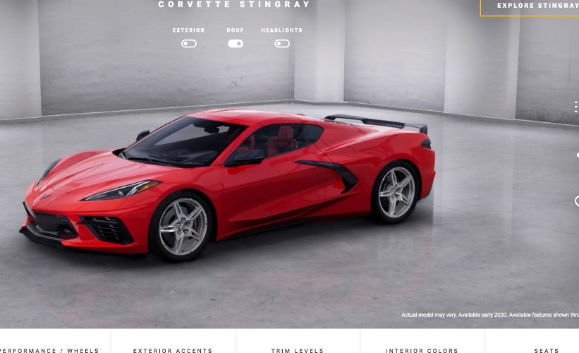 Corvette Visualizer, para configurar el nuevo Stingray