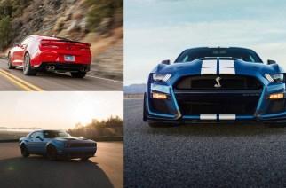 Shelby GT500 vs. Camaro ZL1 vs. Challenger Hellcat Redeye