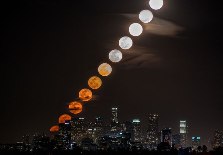 Moonrise Time-Lapse Over LA