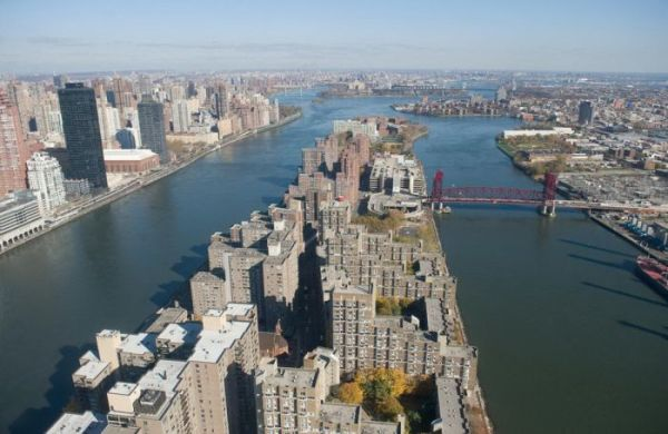 New York City's Roosevelt Island is view