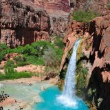 Waterfall inside Grand Canyon