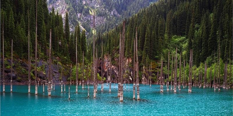 Lake Kaindy Kazakhstan S Submerged Forest Memolition