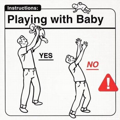 Do's And Don'ts With Babies. Visual Instructions For New
