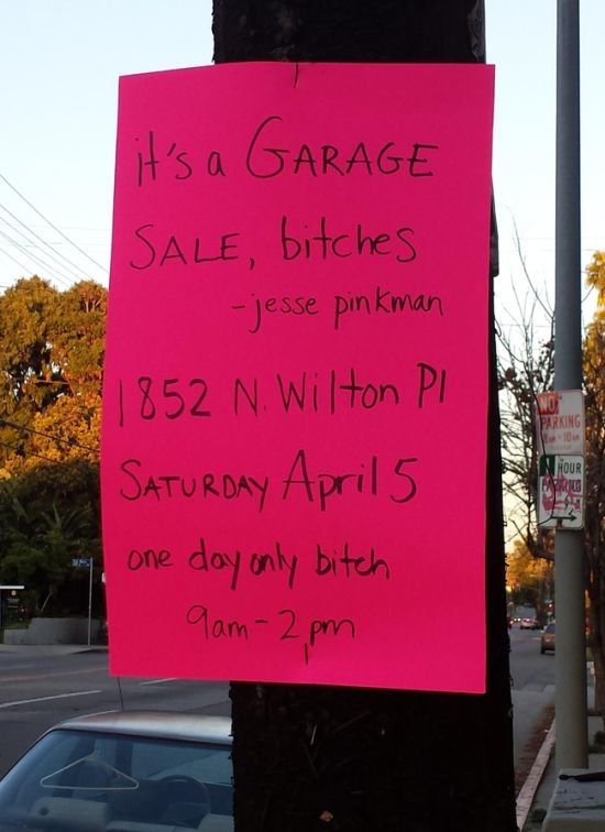 Yard sale of hell house