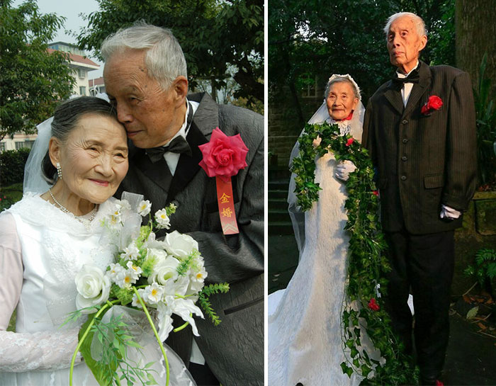 98 Year Old Couple Recreate Their Wedding Day After 70