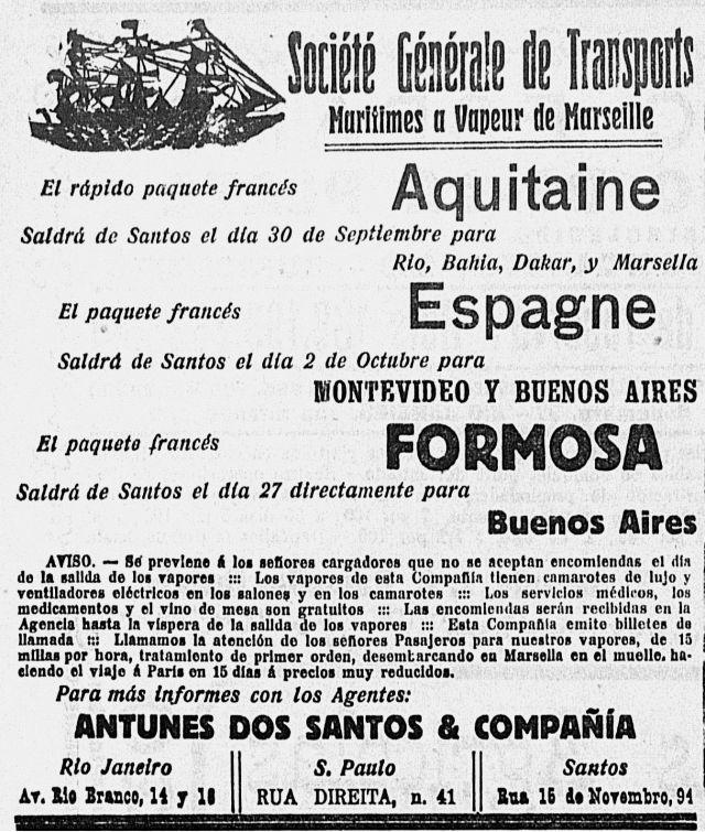 (Anuncio rutas SGTM 19 septiembre, 1913)