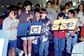 1997 - Apresentação de flautas do Colégio Cruzeiro - Centro
