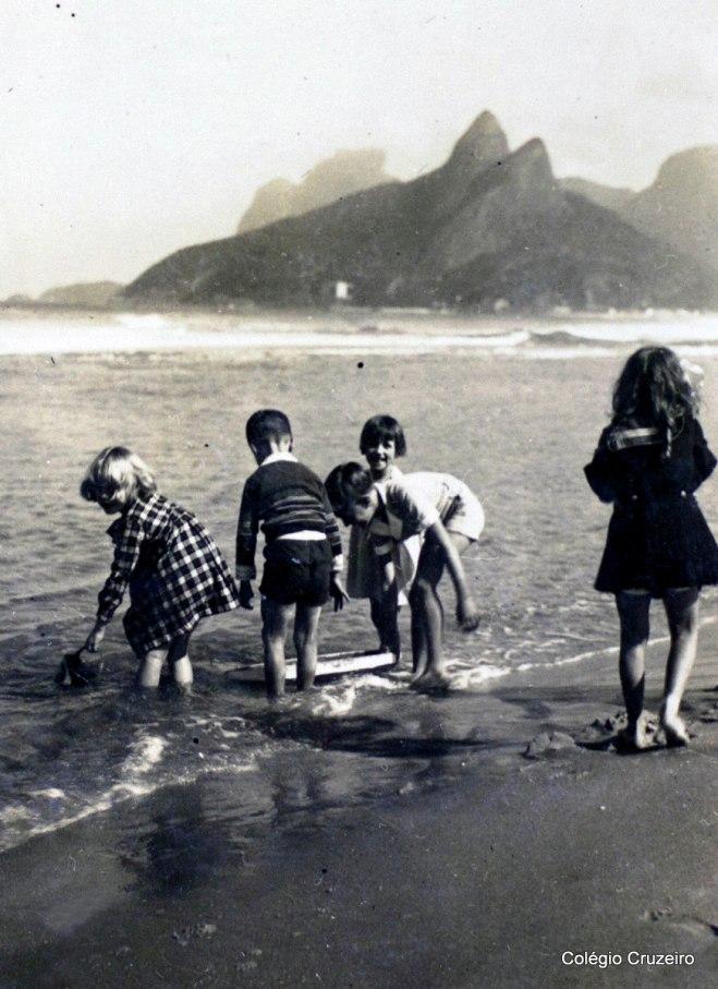 1934 - Passeio de alunos do Colégio Cruzeiro - Centro à Praia de Ipanema