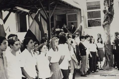1971 - Cerimônia dos Jogos Olímpicos no Colégio Cruzeiro - Centro