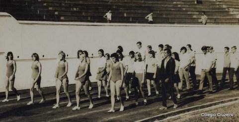 1971 - Competição esportiva do Colégio Cruzeiro - Centro no Clube do Fluminense