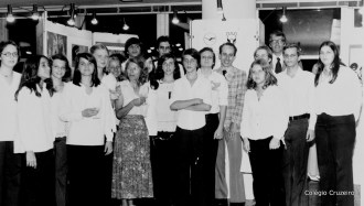 1978 - Coro do Colégio Cruzeiro Centro na exposiçao de desenhos da Lufthansa
