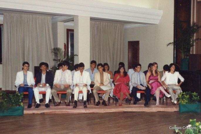 1989 - Formatura no Colégio Cruzeiro - Centro