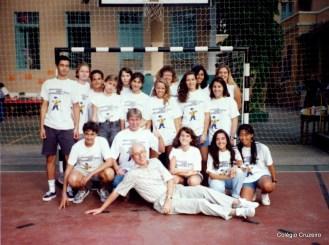 1993 - Professor Dengler com os alunos da 1ª Viagem de Estudos à Alemanha do Colégio Cruzeiro - Centro
